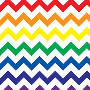 Rainbow Chevron on White by TimorousEclectc