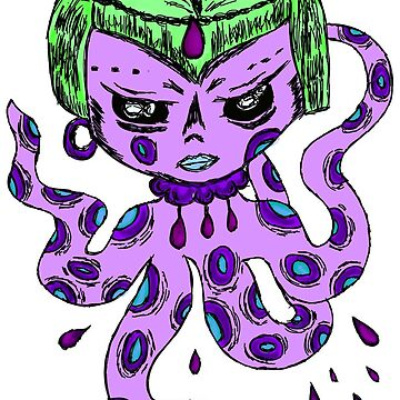Octopus girl by Creris-Lonatora