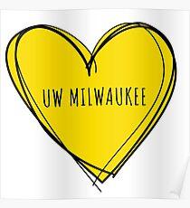 UW MILWAUKEE HEART Poster