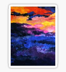 Tennessee Mountains Sunset Abstration Sticker