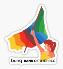 bunq flag Sticker