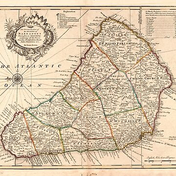 Island of Barbadoes Map (1752) by allhistory