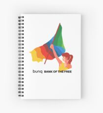 bunq flag Spiral Notebook
