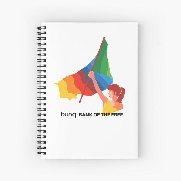bunq flag Spiral Notebook