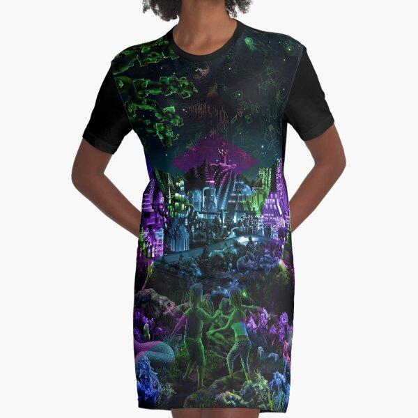 FutuRetro Dreams Graphic T-Shirt Dress