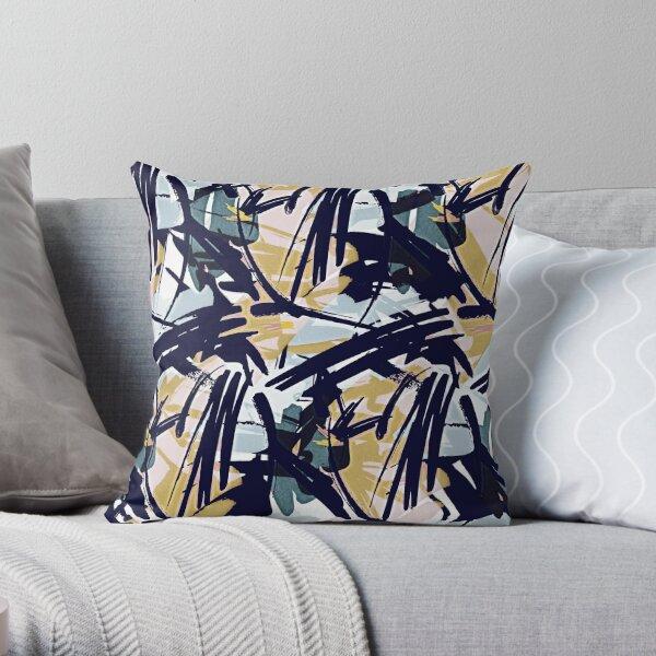 Abstract Haze Throw Pillow