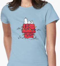 Peanuts Snoopy Christmas Women's Fitted T-Shirt