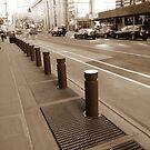 Zebra crossing, New York, Manhattan, Brooklyn, New York City, architecture, street, building, tree, car,   by znamenski