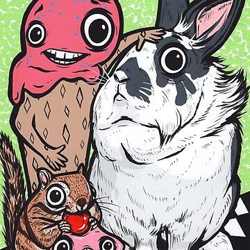 Lionhead Rabbit Friends by turddemon