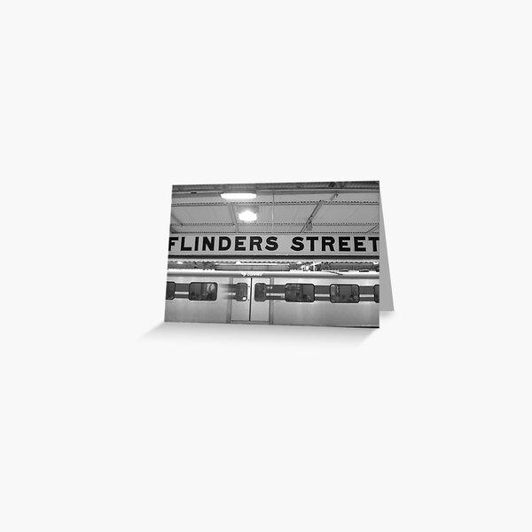 flinders st station Greeting Card
