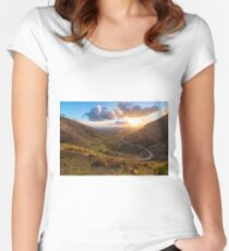 Lanzarote, Femes road at sunset Women's Fitted Scoop T-Shirt