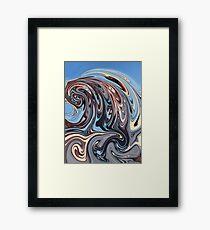 Latin American Tsunami Wave Framed Print