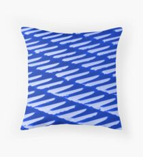 Ice Blue - snow on a tiled roof - abstract Throw Pillow