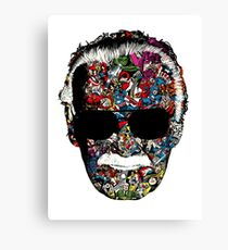 Stan Lee - Man of many faces Canvas Print