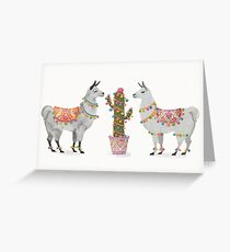 llamas Greeting Card