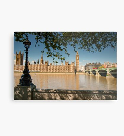 Thames View of Big Ben and Houses of Parliament Metal Print