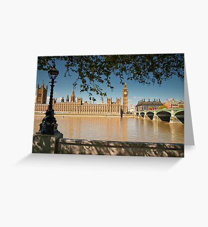 Thames View of Big Ben and Houses of Parliament Greeting Card