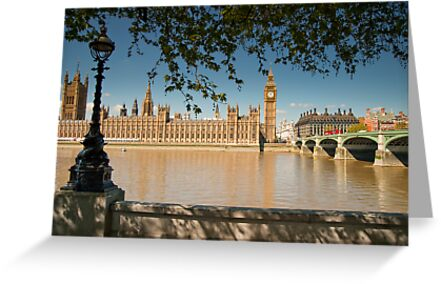 Thames View of Big Ben and Houses of Parliament by DonDavisUK