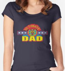 Ultimate Dad Superhero Fathers Day Man Women's Fitted Scoop T-Shirt