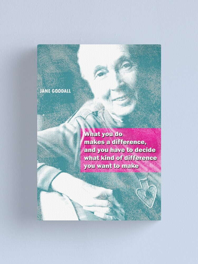 Alternate view of Jane Goodall Quote 4 Canvas Print