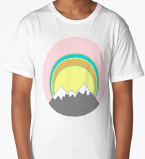 Snowy Mountain Sunrise  Long T-Shirt