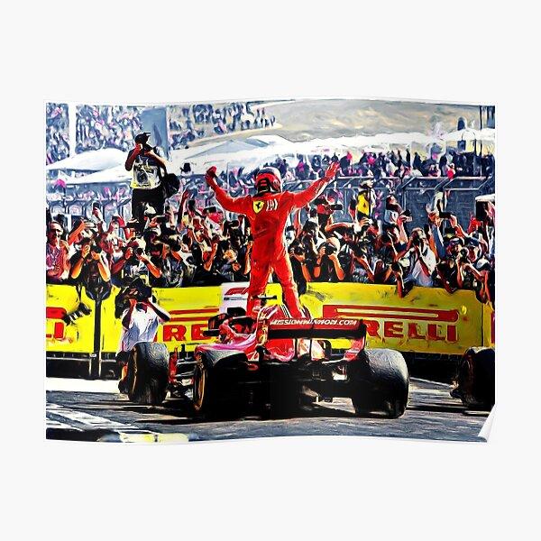 Kimi Raikkonen - Grand Prix USA 2018 Poster
