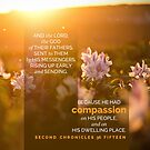 2 Chronicles 36:15 Bible Verse Compassion Field Flowers Print by ScripturePics