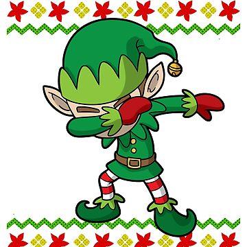 Dabbing Elf Ugly Christmas by frittata