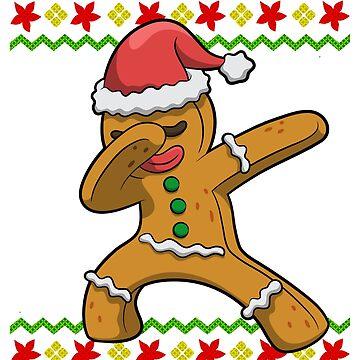 Dabbing Gingerbread Man Ugly Christmas by frittata