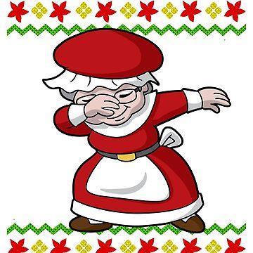 Dabbing Mrs. Santa Claus Ugly Christmas by frittata