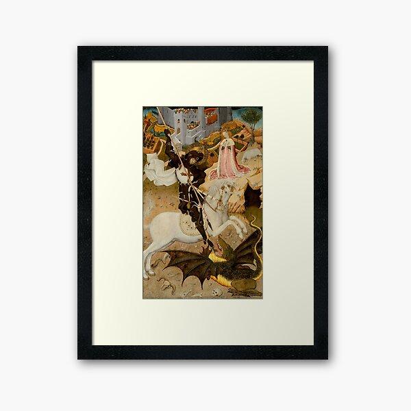 Saint George and the Dragon  Framed Art Print