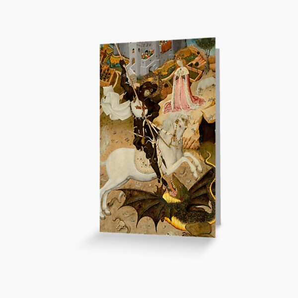 Saint George and the Dragon  Greeting Card