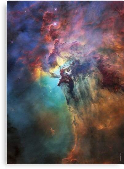 Quot Lagoon Nebula Messier 8 M8 Interstellar Cloud Pastel Pink