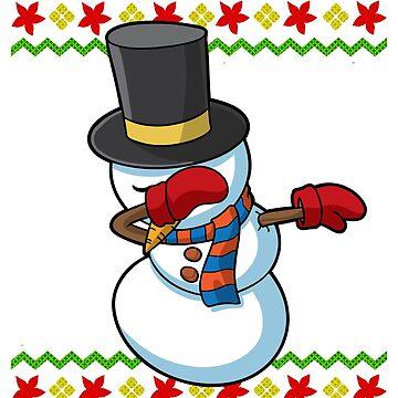 Dabbing Snowman Ugly Christmas by frittata