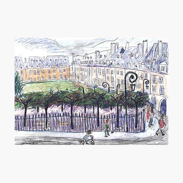 Place des Vosges à partir du numéro 23 Impression photo
