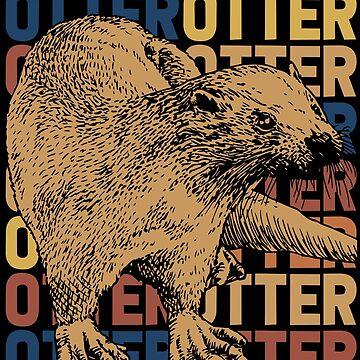 Otter Endangered species by GeschenkIdee