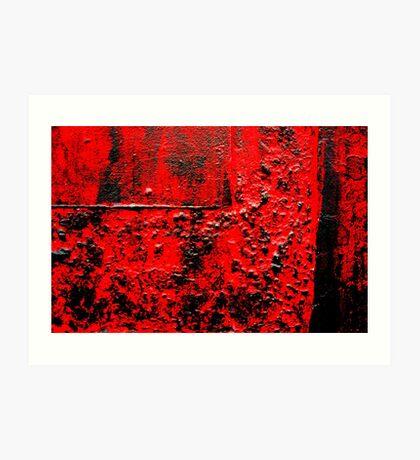 Rosso / Nero / Passione / Voglia Art Print