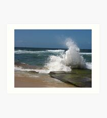 bar beach wave Art Print
