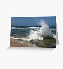 bar beach wave Greeting Card