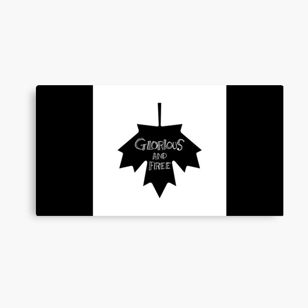Glorious And Free Flag Canvas Print