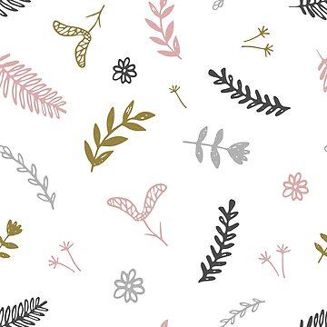 Doodle flowers pattern by nastybo