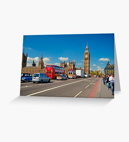 Westminster Bridge: Showing Big Ben Greeting Card
