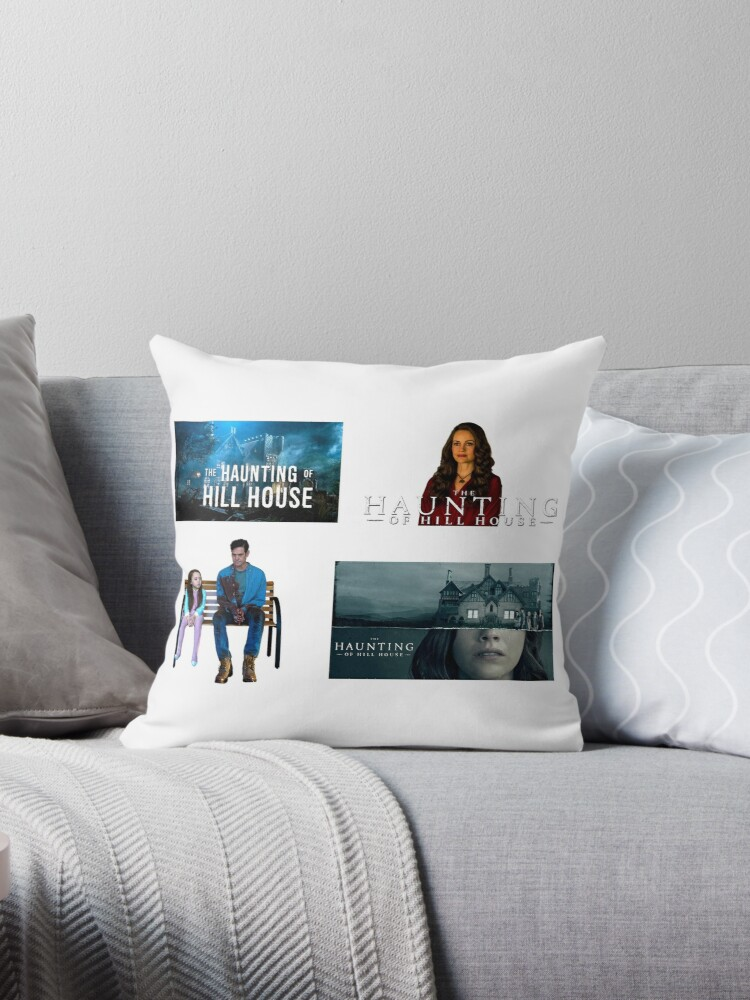 The Haunting Of The Hill House Set Of 4 Sticker Packs Cool Crazy Insane Horror Tv Shows Gifts Presents Ideas Throw Pillow By Avit1 Redbubble
