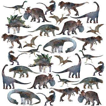 Dinossaur Pattern by rodrigomff23