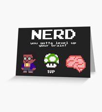 Nerd learning nerd school pixelart Greeting Card