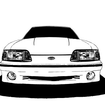 Ford Mustang  GT (fox body) - front stylized line by mal-photography