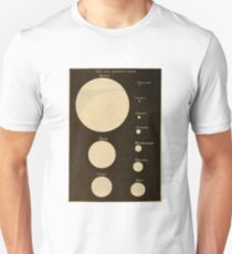 Astronomy for the Use of Schools and Academies (1882) - The Sun as Seen from the Each Planet Unisex T-Shirt