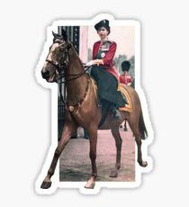 Elizabeth II's horse Sticker