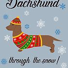 Dachshund through the snow - knitwear by RebeccaMcGoran
