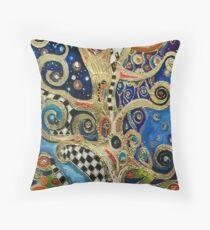 The Changing Seasons of Klimt Throw Pillow